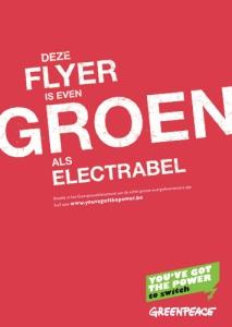 Volgens Greenpeace is Electrabel zo groen als een rode affiche, volgens Javaux (Ecolo) niet