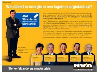 De advertentie over de 'Vlaamse' energiemaatschappij naar het voorbeeld van Telenet verscheen niet in De Morgen...