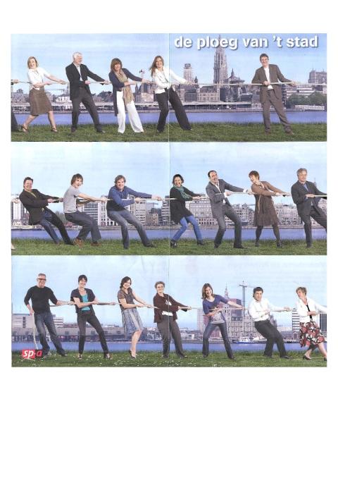 Sp.a-folder 'De ploeg van 't stad', zonder Erik De Bruyne...