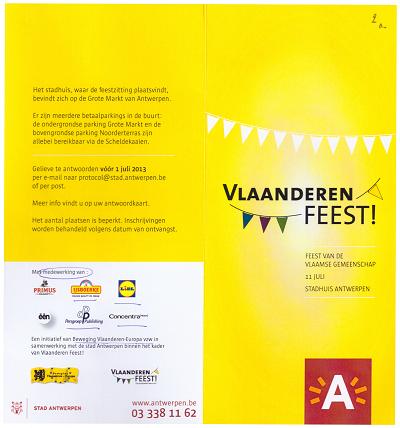 De  Beweging Vlaanderen-Europa vzw staat bovenaan bij de uitnodigende organisatoren.