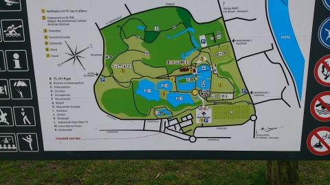 Plattegrond van het recreatiedomein De Schorre in Boom.