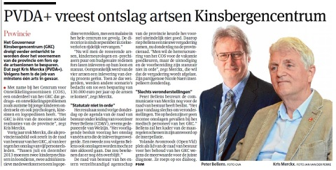 Gazet van Antwerpen besteedde al op voorhand aandacht aan onze interpellatie