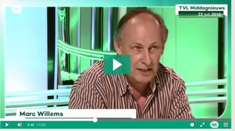 """Marc Willems van ACOD-Limburg op TVL (22/7) over de toekomst van het provinciepersoneel: """"Als er niet snel duidelijkheid komt, dreigt er een heet najaar"""". Die zijn er op 7 oktober dus zeker bij."""
