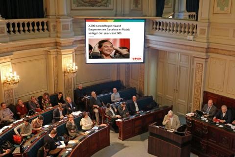 Ada Colau (Barcelona), Manuela Carmena (Madrid) en Alexis Tsipras begonnen met te besparen bij zichzelf. Onze toppolitici hebben daar geen oren naar.