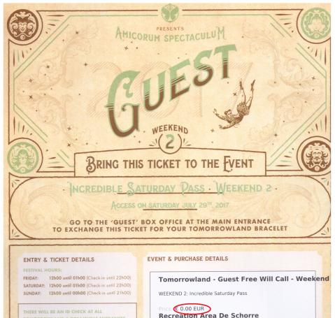 TML gratis ticket boven 0 euro